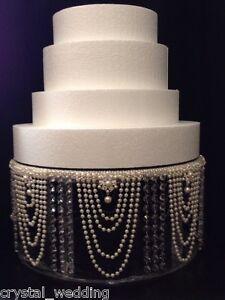image is loading vintage perle amp cristal presentoir gateau pour mariage - Presentoire De Gateau De Mariage