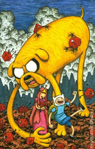 ADVENTURE TIME with finn and jake #1 D cover JEFFREY BROWN VARIANT comic