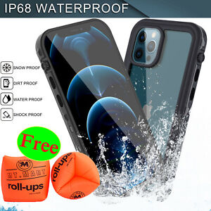 For iPhone 12/12 Pro Max Waterproof Shockproof Defense Case w/ Screen Protector