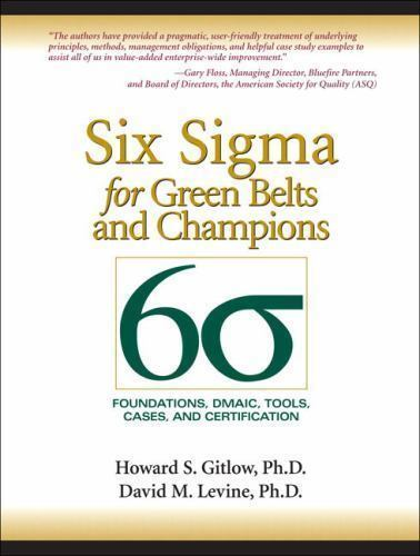 Six Sigma: Six Sigma for Green Belts and Champions : Foundations ...