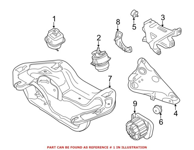 Buy Genuine Bmw X5 Engine Support 22 11 6 853 104 Online