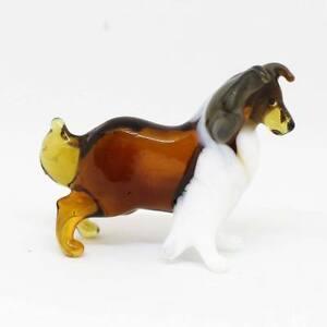 Middle-blown-glass-figurine-Dog-Rough-Collie-Handmade-120