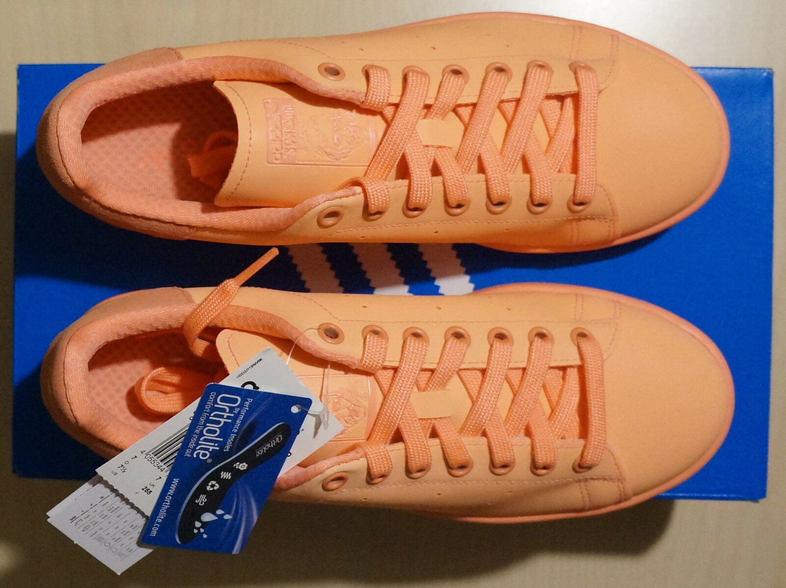 Adidas Stan Smith Adicolor sunglo/sunglo/sunglo Gr. 40 2/3, UK 7 neu & OVP