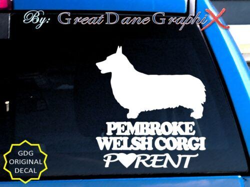 S Pembroke Welsh Corgi PARENT Vinyl Decal Sticker Color Choice-HIGH QUALITY