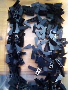 LEGO LOT OF 100 BLACK SLOPE 33 SLOPED 3 X 1 PIECES PARTS