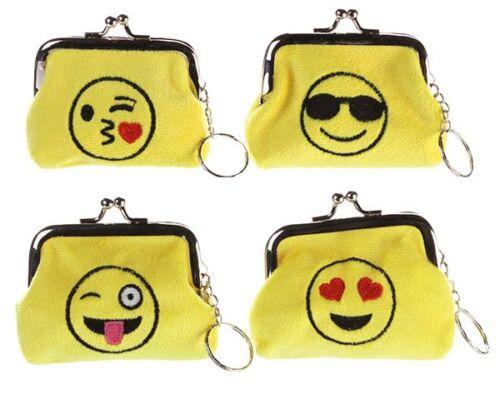 Geldbörse SMILE mit Gesicht aus weichem PLÜSCH Stoff bestickt wallet portemonaie