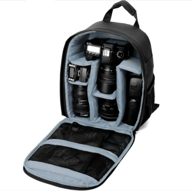 AU Waterproof Shockproof SLR DSLR Camera Bag Case Backpack For Canon Sony Nikon