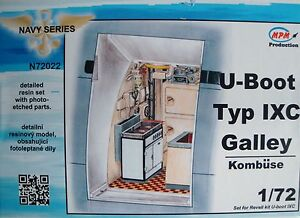 MPM-CMK-N72022-Detail-Resin-Set-034-Galley-034-for-Revell-U-Boot-IXC-in-1-72