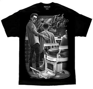 Barber-Shop-Appointment-Fresh-Cut-Rockabilly-Greaser-David-Gonzales-DGA-T-Shirt