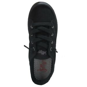 women's jellypop dallas black/black canvas laceup casual