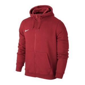 Nike Team Club Full Zip Hoody Kinder Kapuzenjacke Rot Swaet Hoodie Hoody 658499