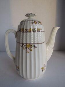 Copeland Spode Renoncule (older Mark) Café Pot Avec Couvercle Fleurs Jaune/marron-afficher Le Titre D'origine 5pnipxel-07220515-227680534