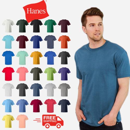 S-XL Beefy-T Short Sleeve T-Shirt Hanes 5180
