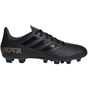 Adidas-Predator-FXG-19-4-Core-Noir-F35600-Homme-Chaussures-De-Football-small-fit-B-Grade