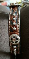 Western Star Genuine Leather Dog Collar W/concho Size 26
