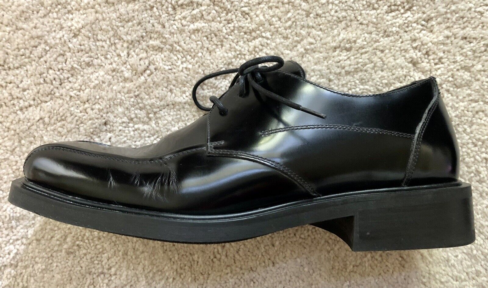Kenneth Cole Reaction Men's Black Leather lace-up shoes Size 11.5 Rubber Soles