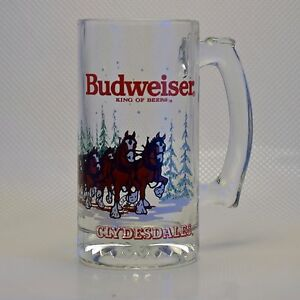 Budweiser-King-of-Beers-Clydesdales-Vintage-Anheuser-Busch-Beer-Mug-1988