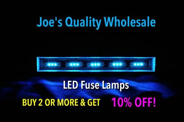 (50)cool Blue 8v Led Fuse Lamps -receiver Audio Dial 2270 4430 2385 4220/meter