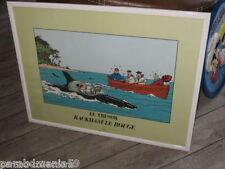 Vente Hergé-Ferrandez-Lot Posters-trésor de Rackham le rouge+Le lotus bleu-Rares
