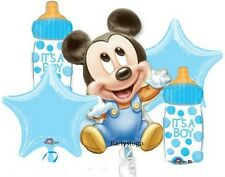 MICKEY MOUSE BABY SHOWER PARTY BALLOONS BOUQUET SUPPLIES DECORATIONS BABY