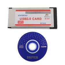 NEW Express Card ExpressCard 34mm to 2 Ports 2Ports USB 3.0 Adapter Card BC628
