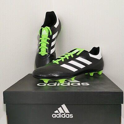 Men's Adidas Goletto VI FG BB4841 Black Green Soccer Shoes Size 11 | eBay