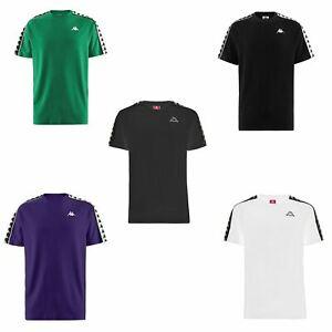 aa4dbb4b1f Details about Kappa Coen Slim 222 Banda Crew Neck T-Shirt in Black & Grey &  White & Black