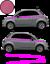 Fiat-500-Autocollant-Bandes-Stickers-adhesifs-decoration-couleur-au-choix miniatura 9