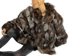 L ARGENTO pelliccia volpe giacca giacca di pelliccia volpe SILVER FOX FUR JACKET manica pipistrello