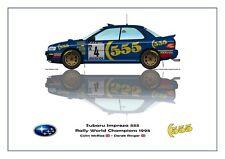 Greetings card Subaru Impreza 555 1995 #4 McRae / Ringer WC Version 1