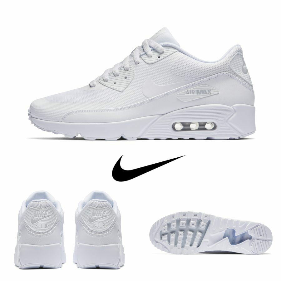 separation shoes 13643 9f743 Nike Air Air Air Max 90 Ultra Essential Running Sneakers White 875695 101  Sz 4-