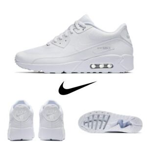 Nike Air Max 90 Ultra Essential Running Sneakers White 875695 101 Sz ... f94f61b5f25