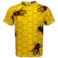 New Yellow Pattern of the Bee Men's Sport Mesh Tee T-Shirt Size S M L XL 2XL 3XL