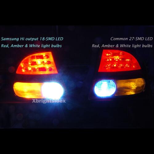 2pcs 7443 7440 Samsung LED 576 lumens Back up Light DRL Projector Lens White #ja