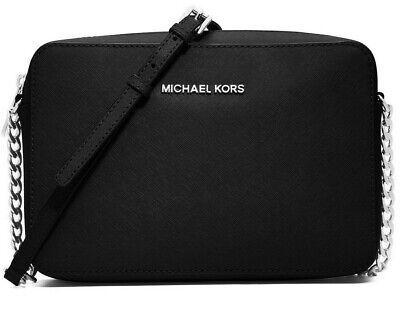 Michael Kors bolso bandolera Jet Set Item crossbody negro plata nuevo | eBay