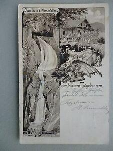 Ansichtskarte Zum feurigen Tatzelwurm Gasthaus 1902 Oberaudorf Rosenheim