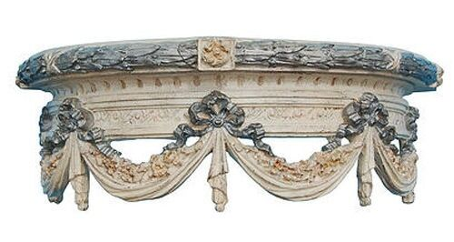 Olde World Swag Canopy Bed Crown in Creme Gold Silver Finish Made in USA