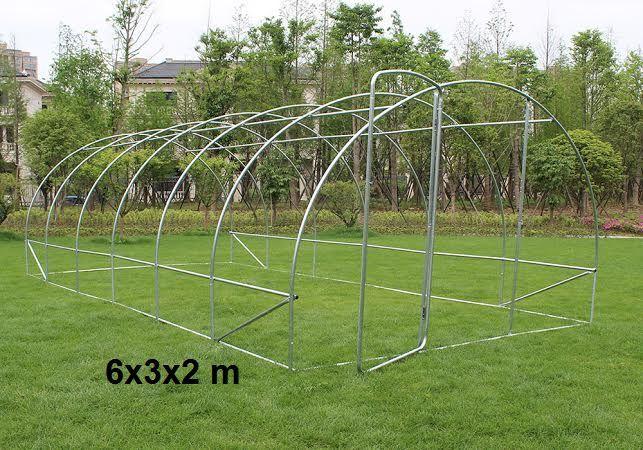 Rahmen 6x2x3 m  1 thur  ideal für die Erstellung  Gewächshaus