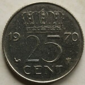 Netherlands1970 25 Cents coin