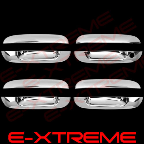 FOR CADILLAC DTS 06-11 CHROME 4 DOORS HANDLES COVERS W//OUT PASSENGER KEYHOLE