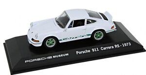 Neu-Original-Porsche-Museum-911-Carrera-Rs-1973-Weiss-1-43-Modellauto-MAP01997313