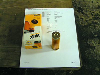 Wix 33389 Cartridge Metal Canister Fuel Filter Pack of 1