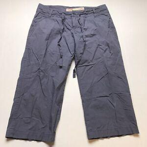 Mossimo-Size-7-Blue-Low-Rise-Crop-Capri-Pants-A703