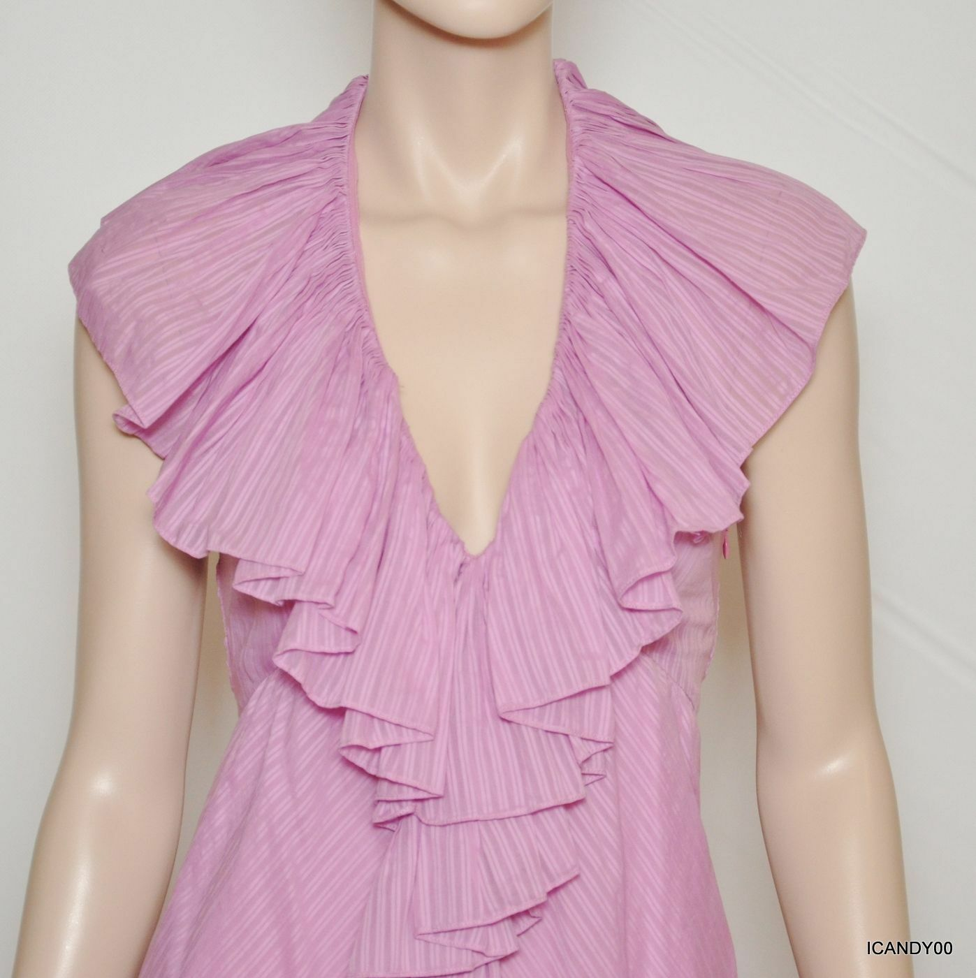 Nwt Nwt Nwt  498 Ralph Lauren bluee Label BOADICEA Ruffled Halter Dress Top Pink 6 d8a0cd