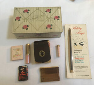 Mixed-Lot-Vintage-Makeup-Soap-Bobby-Pins-Tin