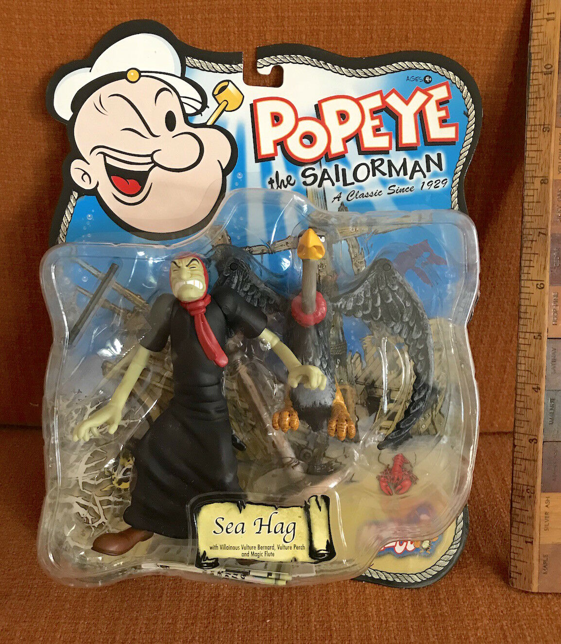 VINTAGE 2001 SEA HAG POPEYE THE SAILOR-MAN 5 INCH ACTION FIGURE MEZCO WITCH NMOC