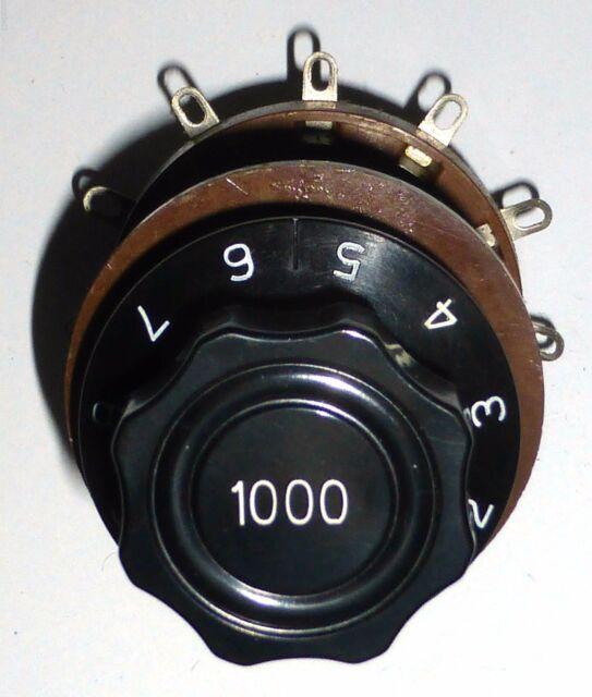 I-49B instrument : original spare part  wafer switch 11 pos with its knob US NOS