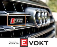 Audi SQ7 Lettering Logo Badge For Front Grille Red/Black 4M0853748 Genuine New