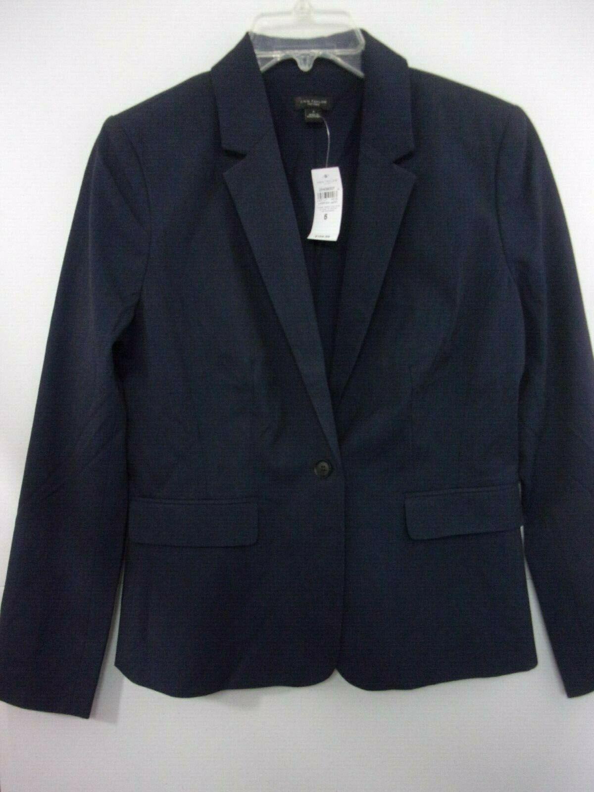 Women's Ann Taylor Factory One Button Blazer in Industrial bluee sz 6 NWT