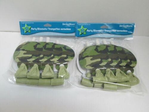 MILITARY ARMY CAMOUFLAGE CAMO PARTY BLOWERS 2 PACKAGES PARTY SUPPLIES